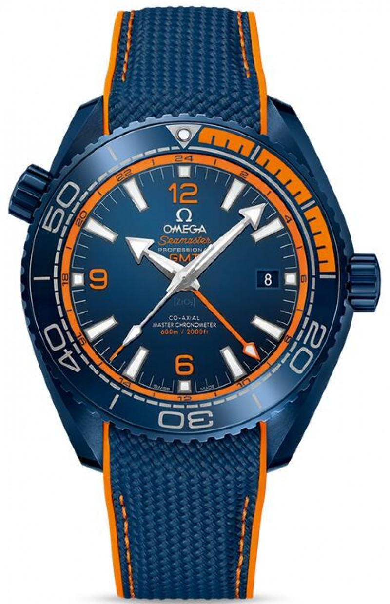Fake Omega Seamaster Planet Ocean 600M GMT Big Blue 215.92.46.22.03.001