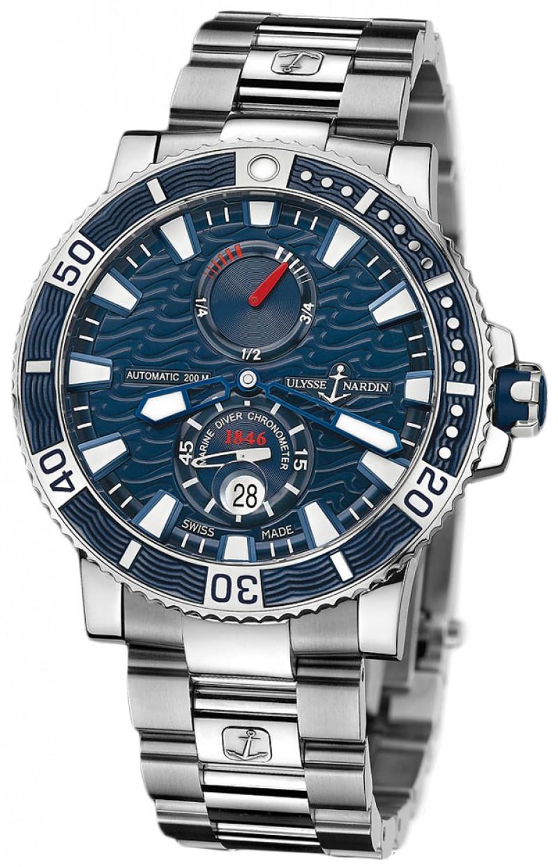 Fake Ulysse Nardin Maxi Marine Diver Titanium Mens Watch 263-90-7M-93