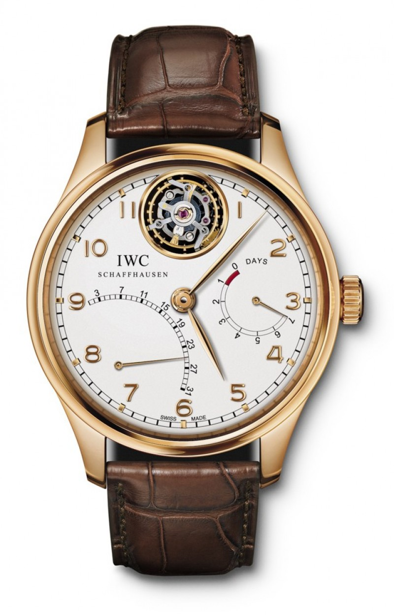 Fake IWC Portuguese Silver Dial 18K Rose Gold Automatic Mens Watch IW504402