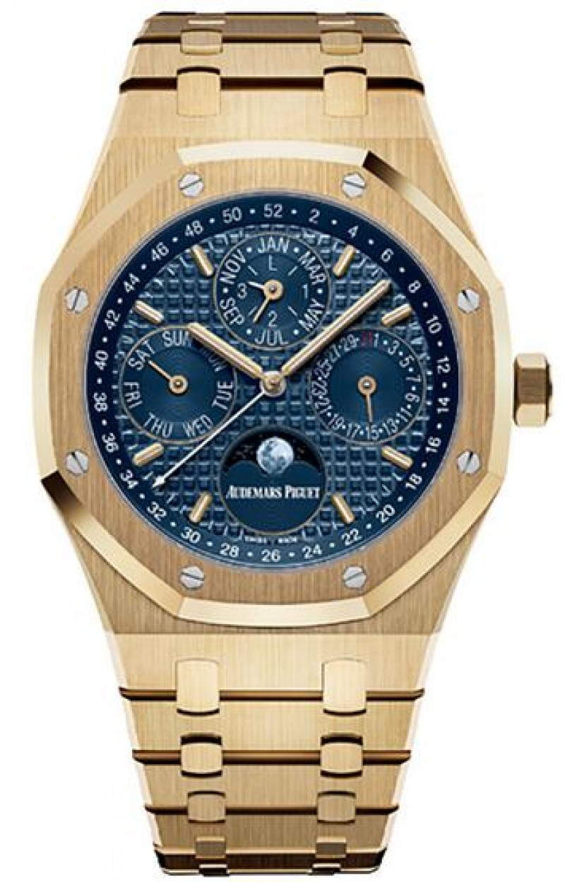 Fake Audemars Piguet Royal Oak Perpetual Calendar Yellow Gold 26574BA.OO.1220BA.01
