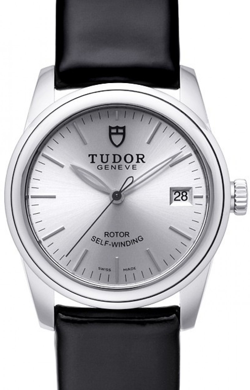 Fake Tudor Glamour Date 36mm Silver Dial Ladies Watch
