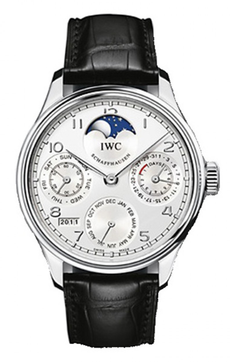 Fake IWC Portuguese Perpetual Calendar Automatic Platinum Mens Watch IW502305