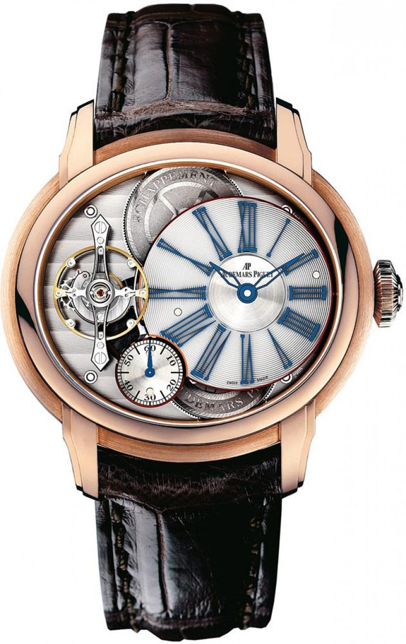 Fake Audemars Piguet Millenary Minute Repeater Pink Gold 26371OR.OO.D803CR.01