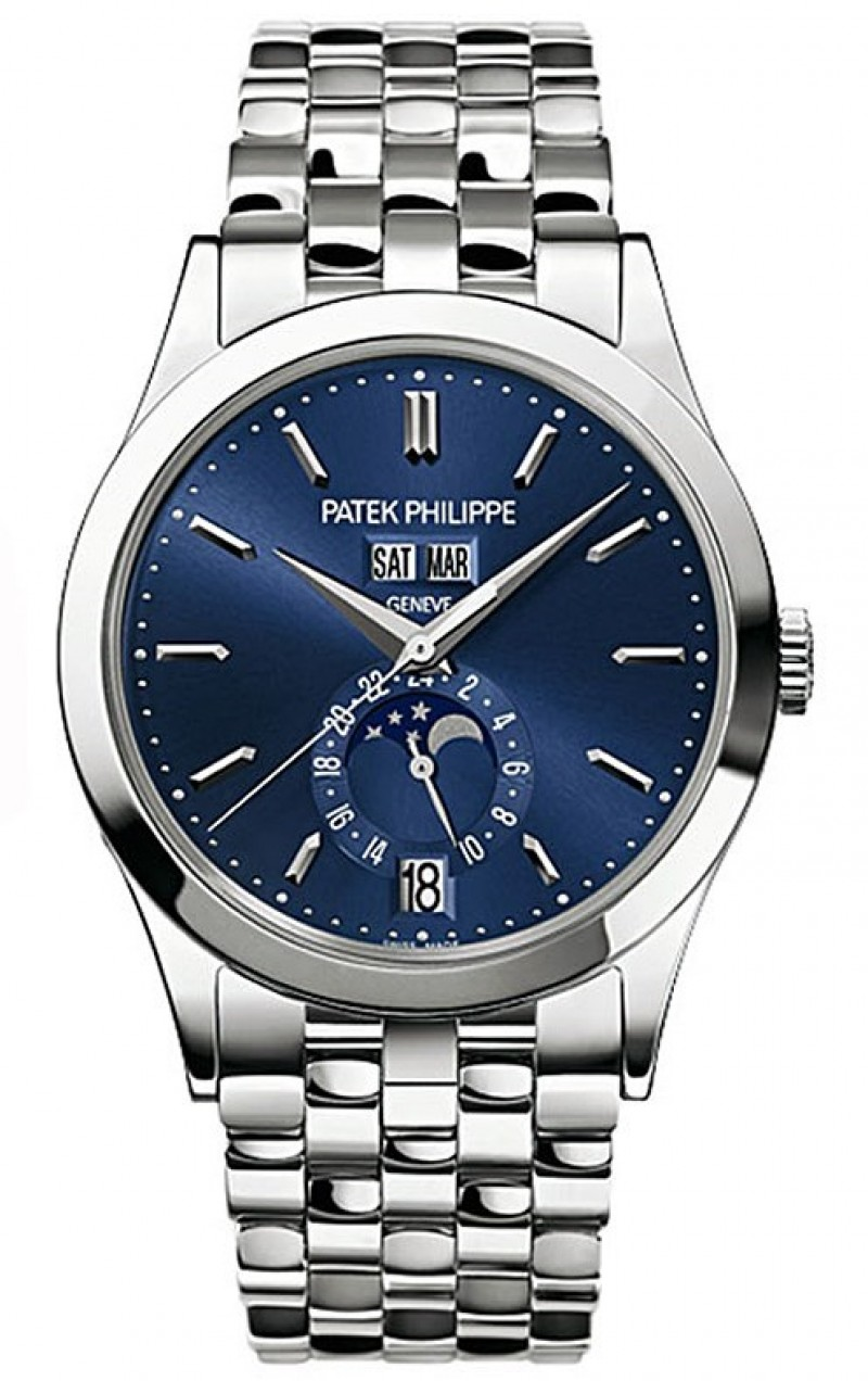 Replica Patek Philippe Blue Dial 18kt White Gold Mens Watch 5396-1G
