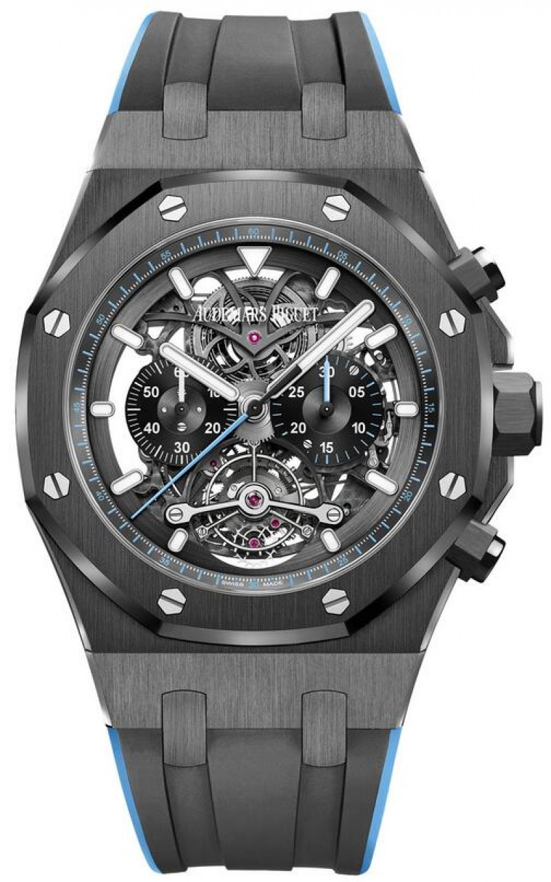 Fake Audemars Piguet Royal Oak Tourbillon Openworked 26343CE.OO.D002CA.02