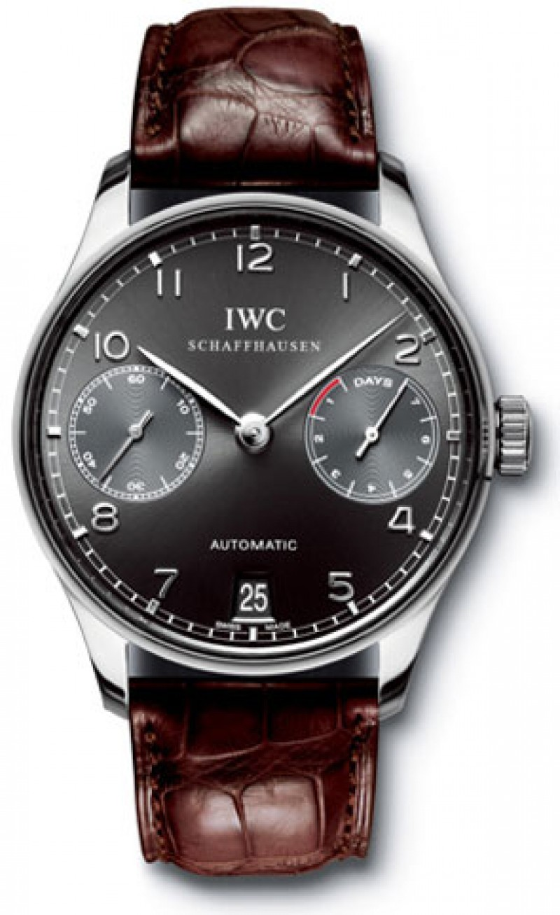Fake IWC Portuguese Automatic 18kt White Gold Mens Watch IW500106