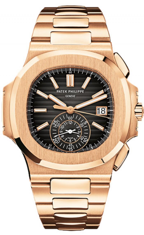 Replica Patek Philippe Nautilus Black Dial Chronograph Automatic Mens Watch 5980-1R-001