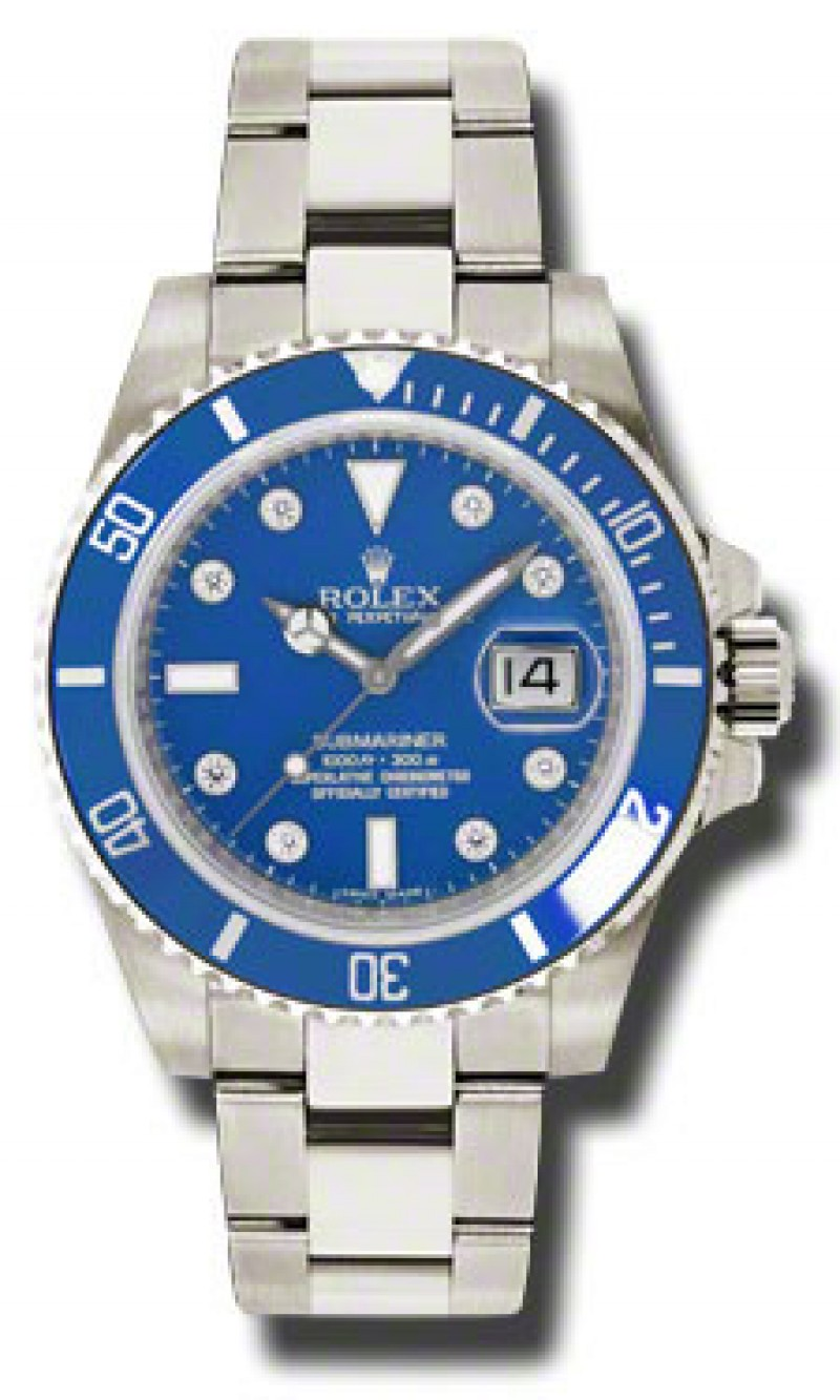 Fake Rolex Submariner Gold Blue Automatic Mens Watch 116619BLDO