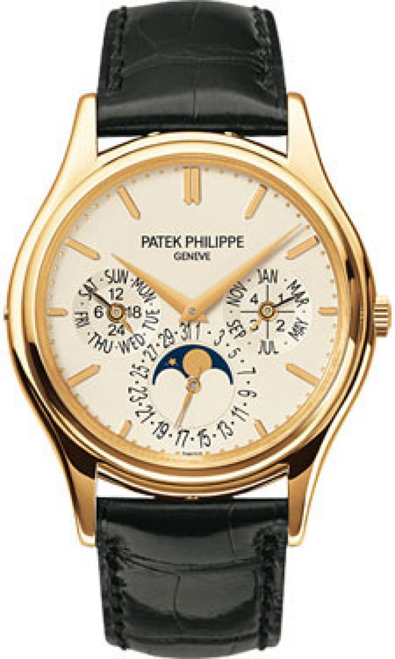 Replica Patek Philippe Grand Complication White Dial 18kt Yellow Gold Mens Watch 5140J-001