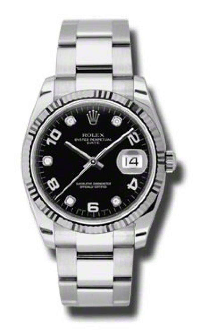 Fake Rolex Oyster Perpetual Date Date Mens Watch 115324BKADO