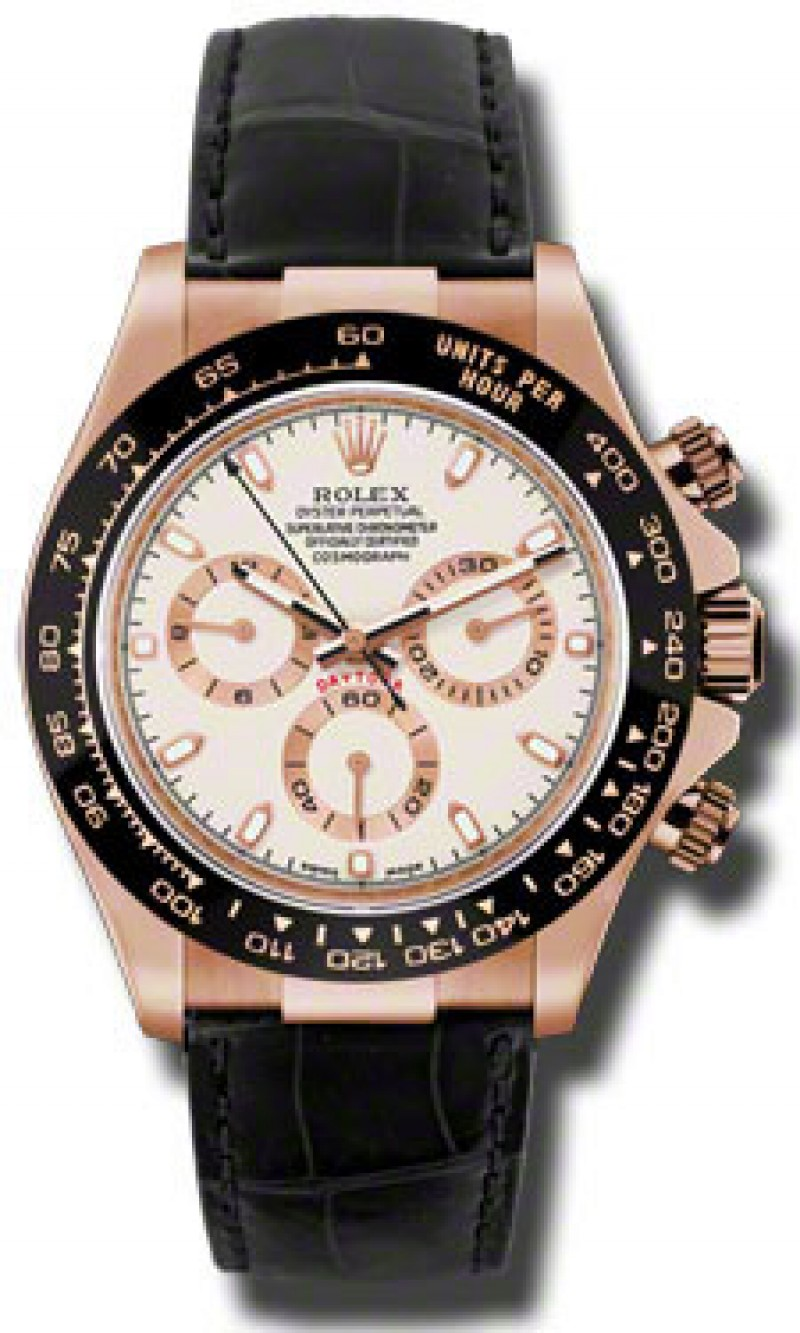 Fake Rolex Daytona Ivory Automatic Mens Watch 116515ISL