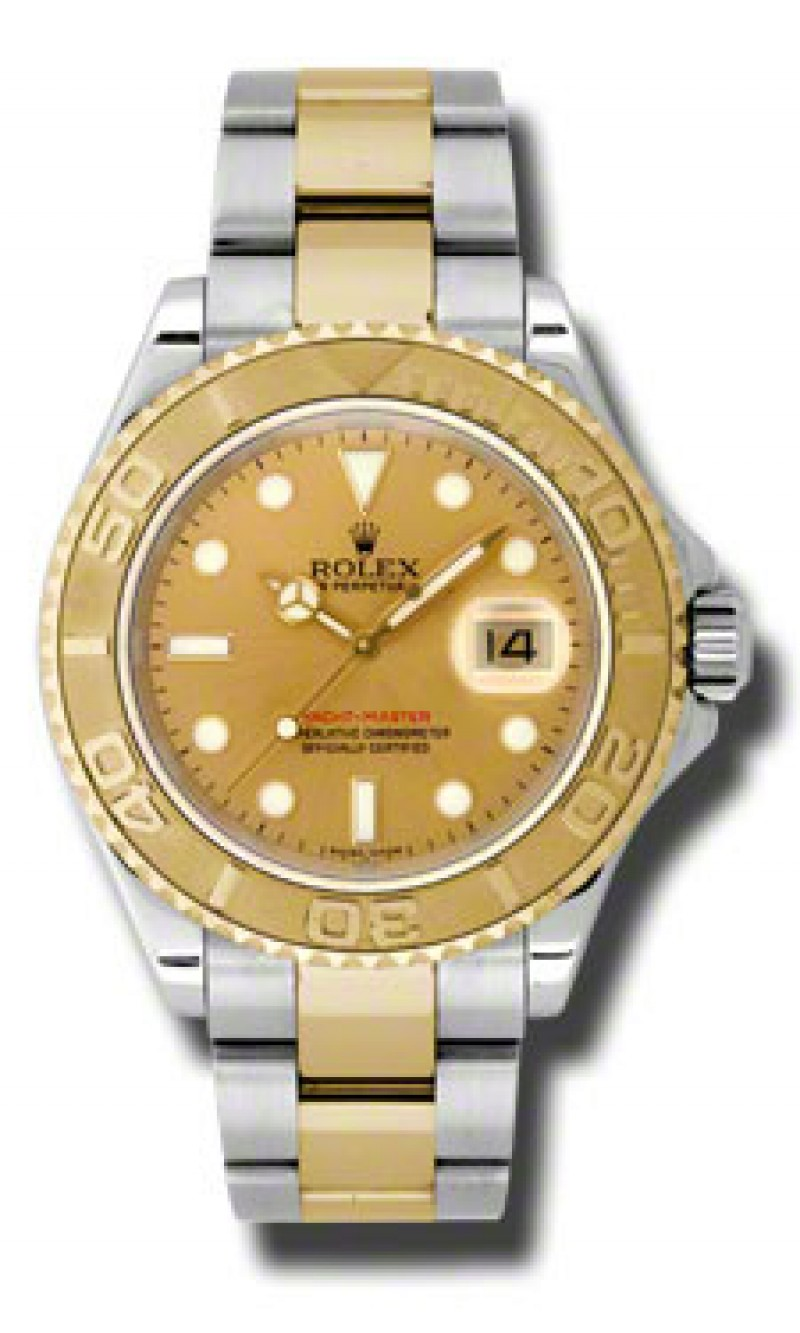 Fake Rolex Yachtmaster Champagne Index Dial Mens Watch 16623CSO