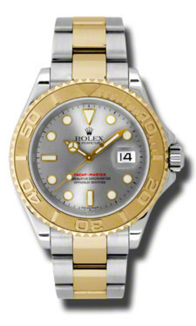 Fake Rolex Yachtmaster Grey Dial Automatic Steel Mens Watch 16623GSO