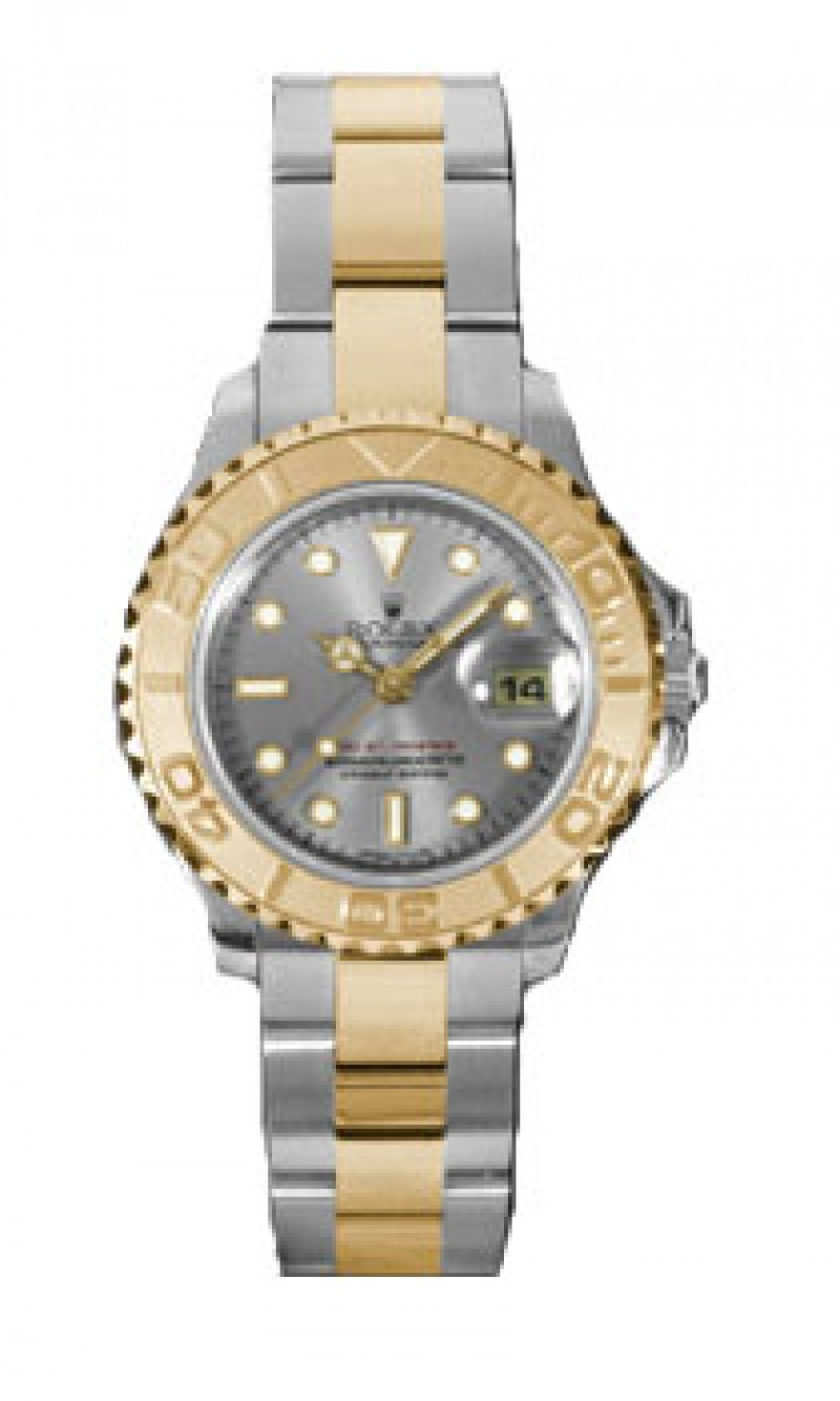 Fake Rolex Yachtmaster Grey Dial 29mm Ladies Watch 169623GYSO