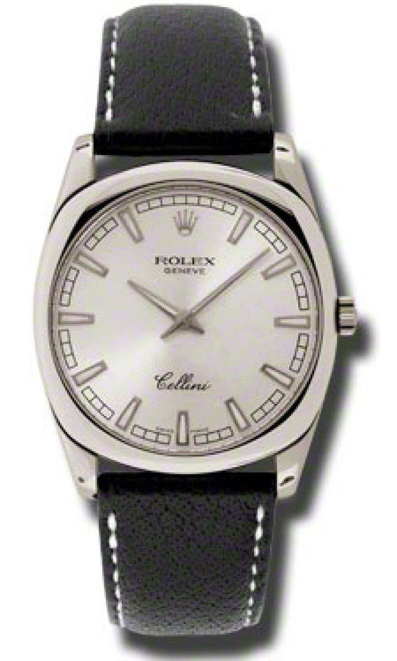 Fake Rolex Cellini Danaos Silver Dial Mens Watch 4243.9