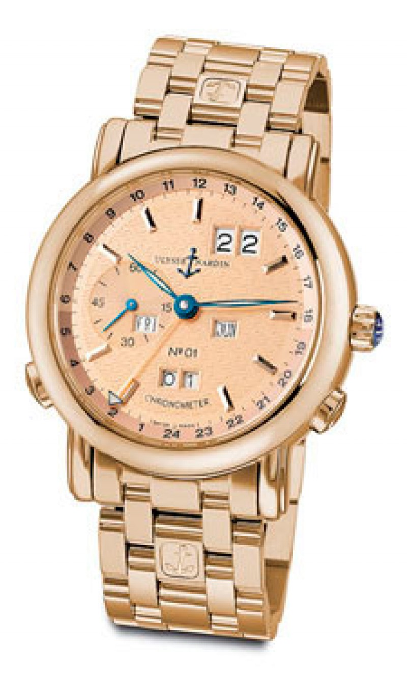 Fake Ulysse Nardin GMT Perpetual Automatic Mens Watch 322-88-8