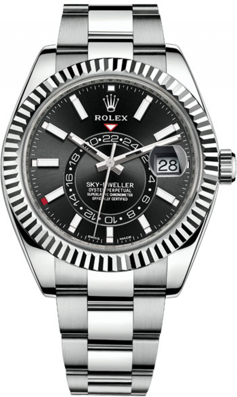 Fake Rolex Sky-Dweller 42mm Steel and White Gold 326934-0005