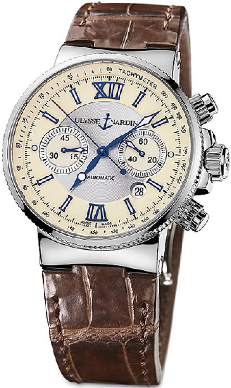 Fake Ulysse Nardin Maxi Marine Chronograph Mens Watch 353-66-314