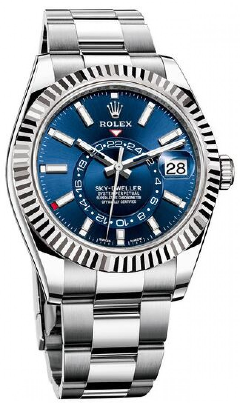 Fake Rolex Sky-Dweller 42mm Steel and White Gold 326934-0003