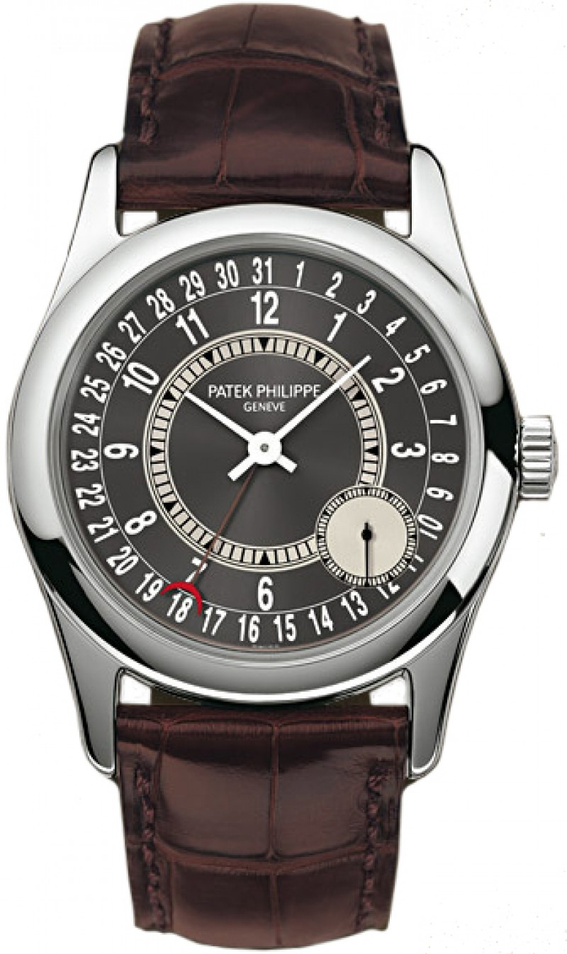Replica Patek Philippe Calatrava Automatic White Gold Mens Watch 6000G-010