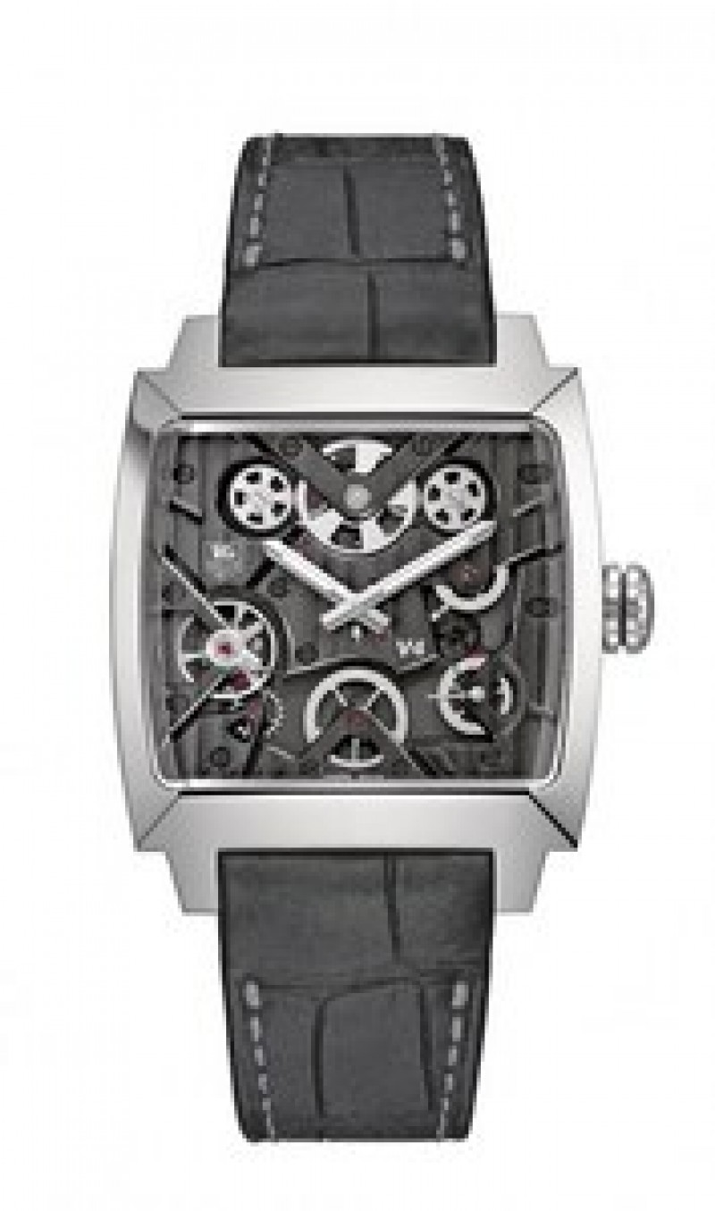 Fake TAG Heuer Monaco V4 Automatic Skeletal Dial Mens Watch WAW2080.FC6288