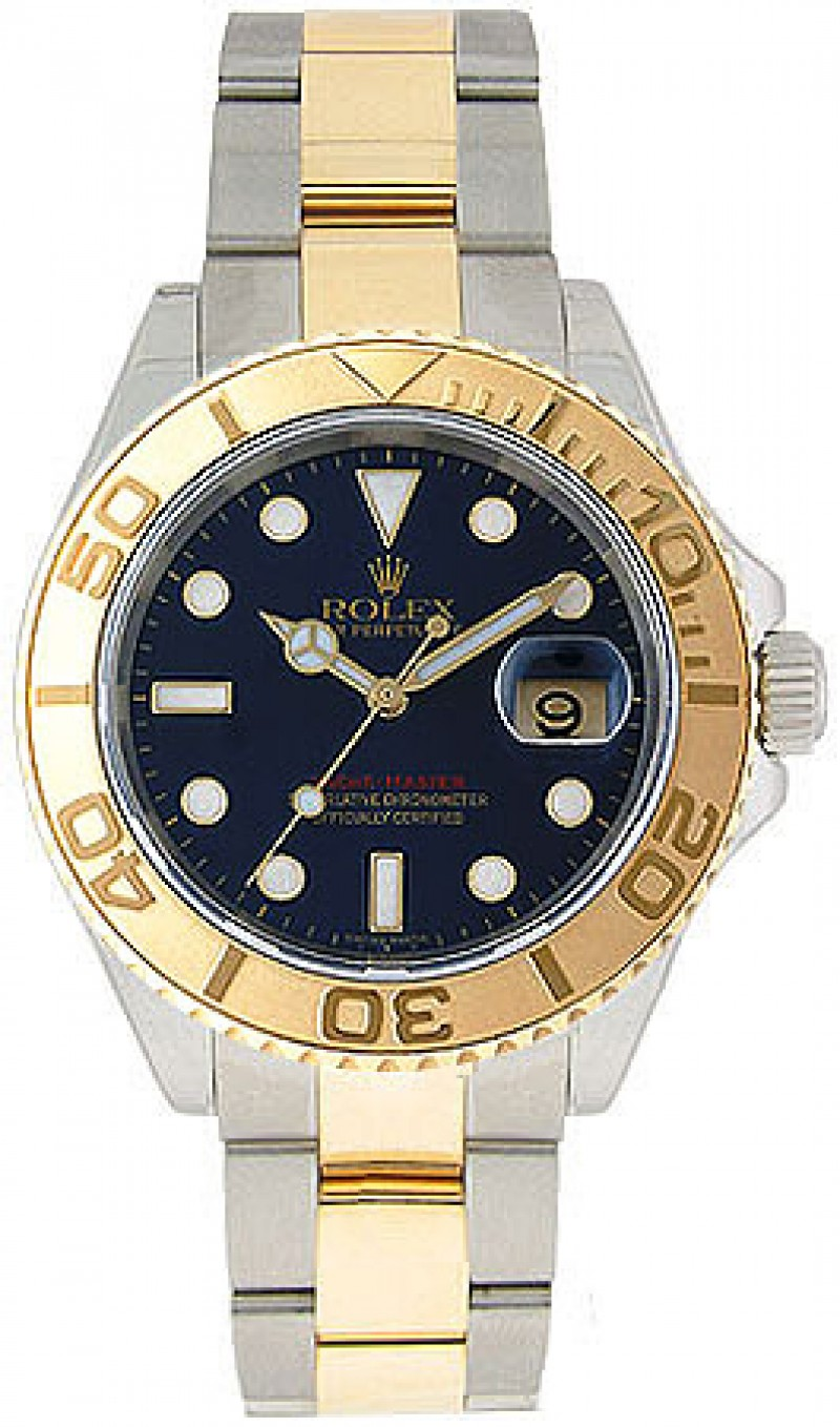 Fake Rolex Yachtmaster Blue Index Dial Mens Watch 16623BLSO