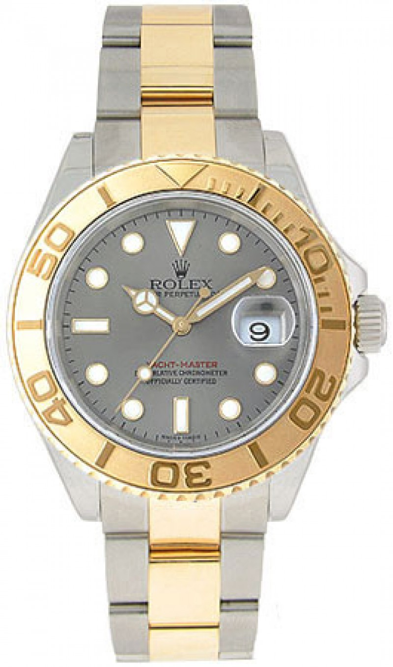 Fake Rolex Yachtmaster Grey Index Dial Mens Watch 16623GYSO