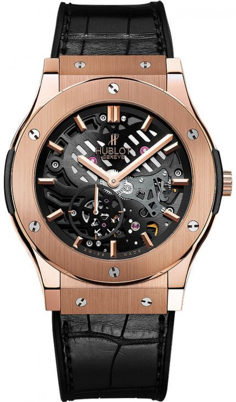 Fake Hublot Classic Fusion Classico Ultra Thin Skeleton Watch 506.OX.0180.LR