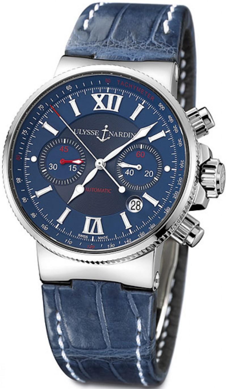 Fake Ulysse Nardin Maxi Marine Chronograph Mens Watch 353-66-323