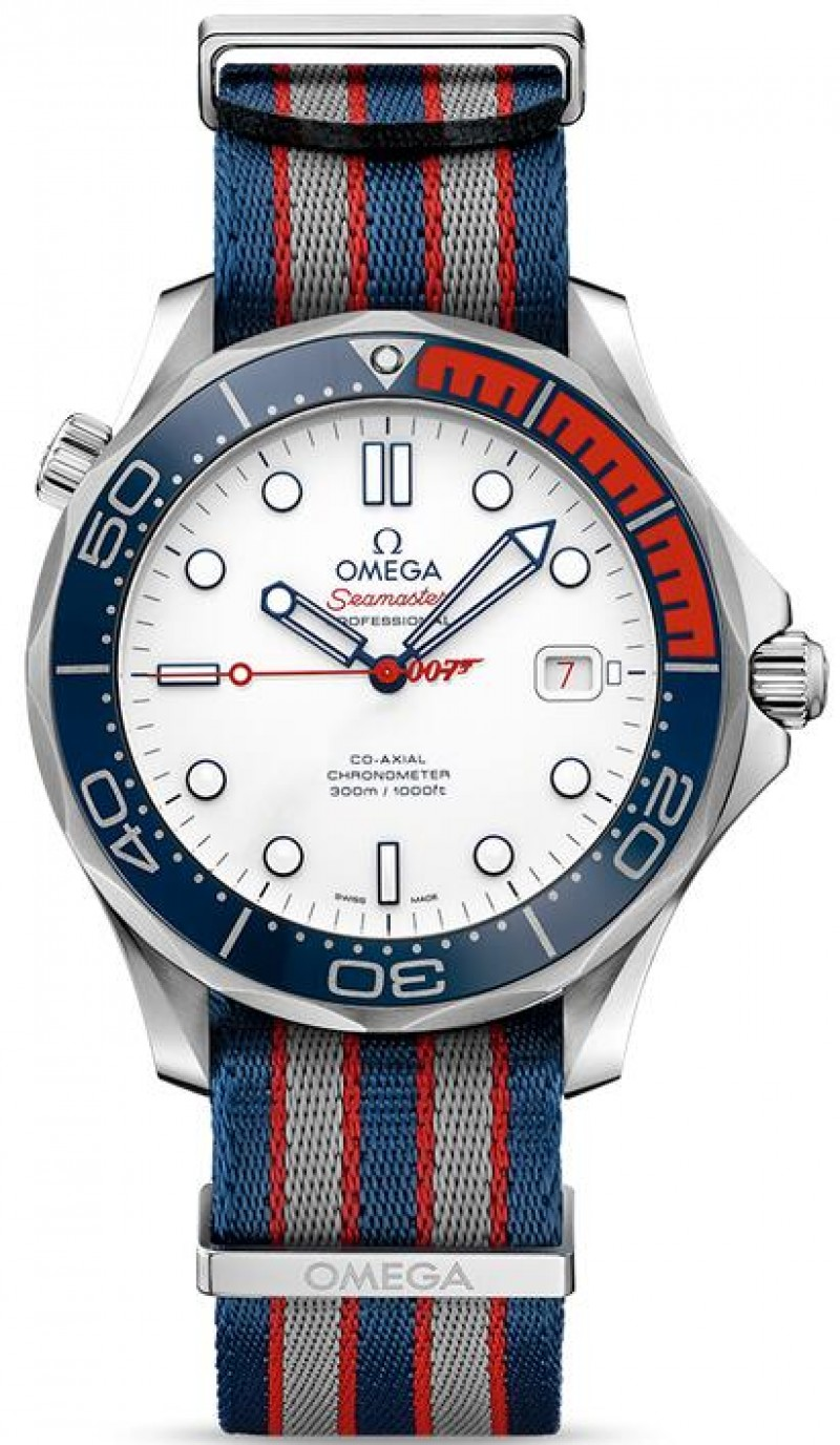 Fake Omega Seamaster Commander's James Bond 007 Mens Watch 212.32.41.20.04.001