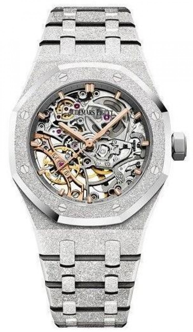 Fake Audemars Piguet Royal Oak Frosted Gold Double Balance Wheel Openworked 15466BC.GG.1259BC.01