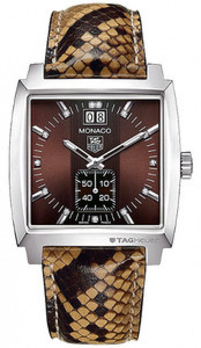 Fake TAG Heuer Monaco Quartz Grande Date Ladies Watch WAW1315.FC6217
