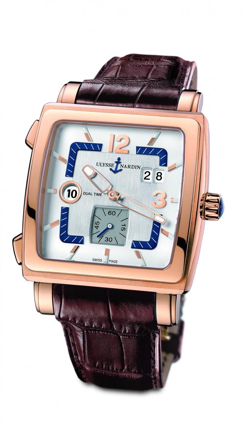 Fake Ulysse Nardin Quadrato Dual Time Mens Watch 243-92-600
