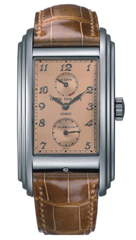 Replica Patek Philippe 10 Day Tourbillion Rose Gold Mens Watch 5101P