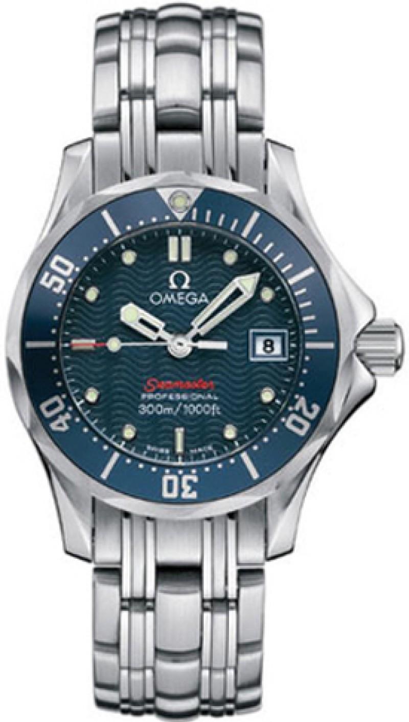 Fake Omega Seamaster Diver 300 M James Bond Blue Ladies Watch 2224.80.00