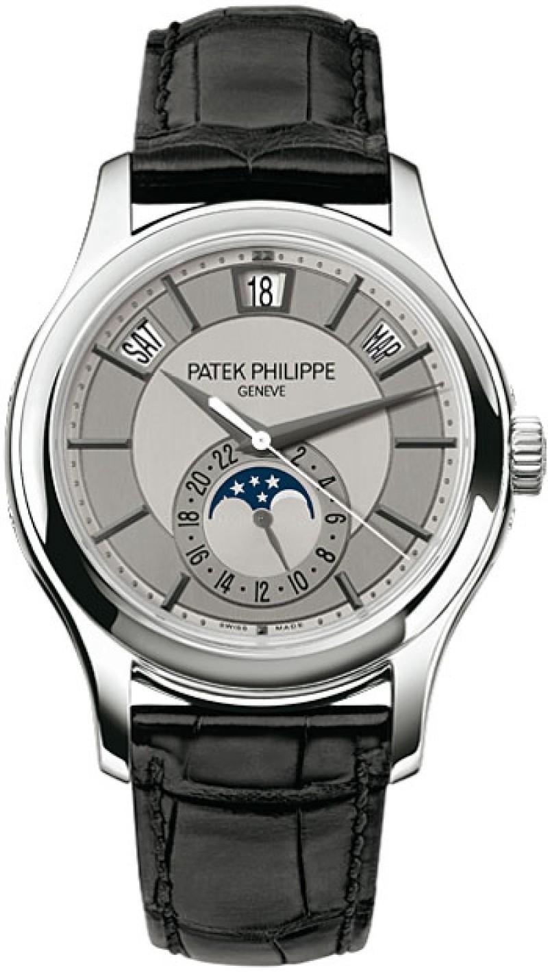 Replica Patek Philippe Grey Dial Mens Watch 5205G-001