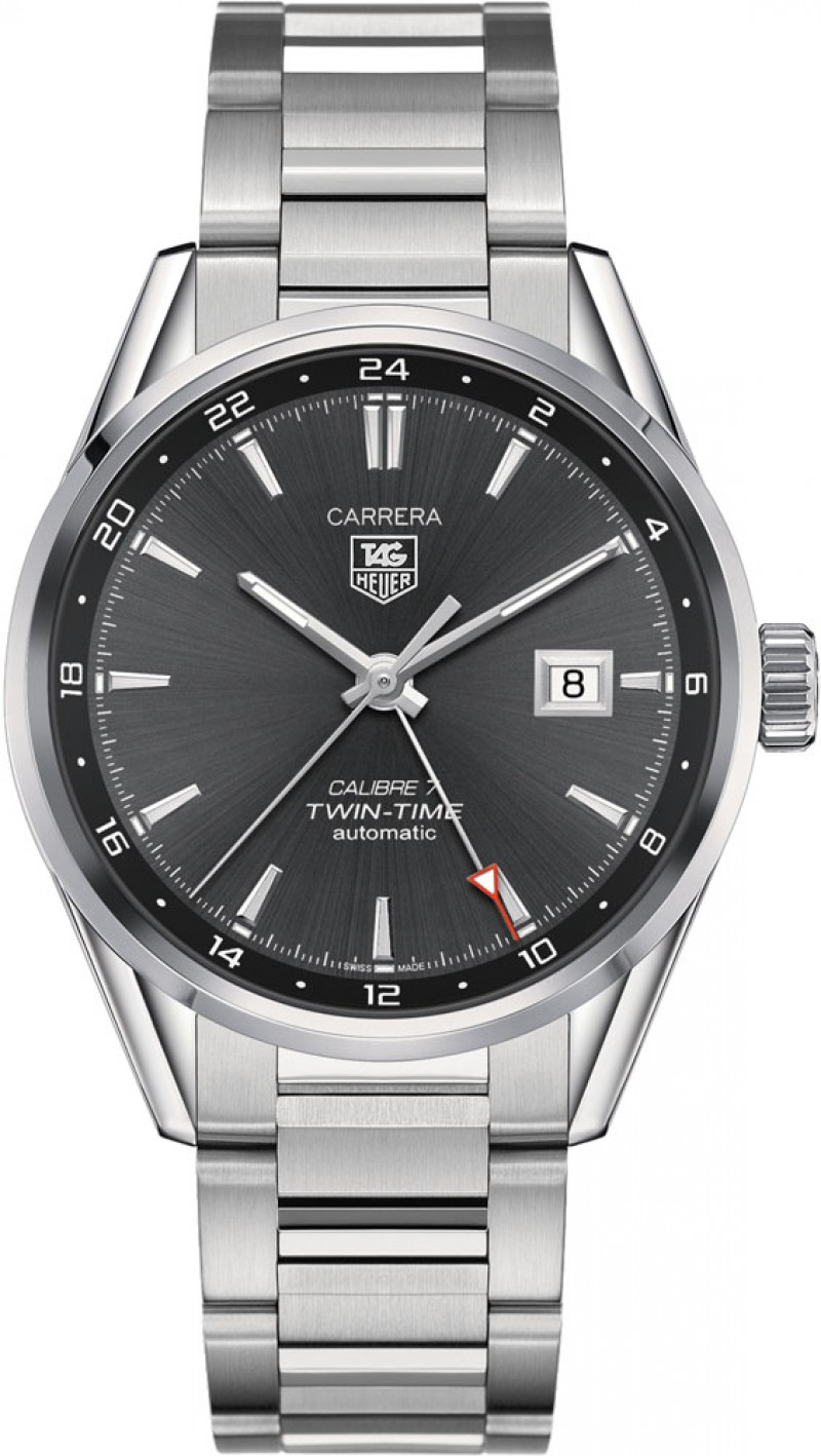 Fake TAG Heuer Carrera Calibre 7 Twin-Time Automatic 41mm WAR2012.BA0723
