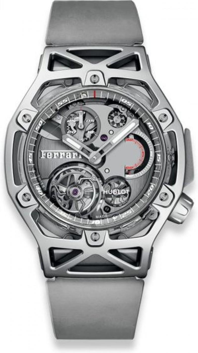 Fake Hublot Techframe Ferrari Tourbillon Chronograph Sapphire White Gold 408.JW.0123.RX