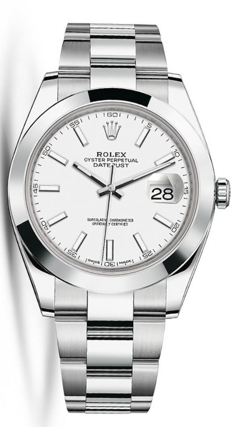Fake Rolex Datejust 41 White Dial Mens Watch M126300-0005