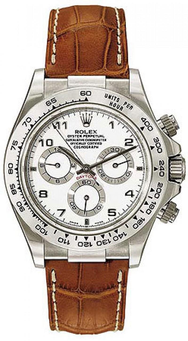 Fake Rolex Daytona White Arabic Dial Mens Watch 116519WAL