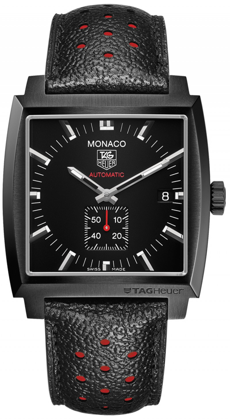 Fake TAG Heuer Monaco Calibre 6 Automatic Full Black 37mm WW2119.FC6338