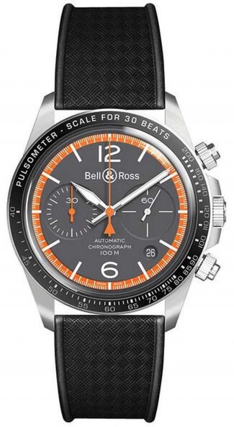 Replica Bell & Ross Vintage Garde-C?tes Chronograph BRV294-ORA-ST/SRB
