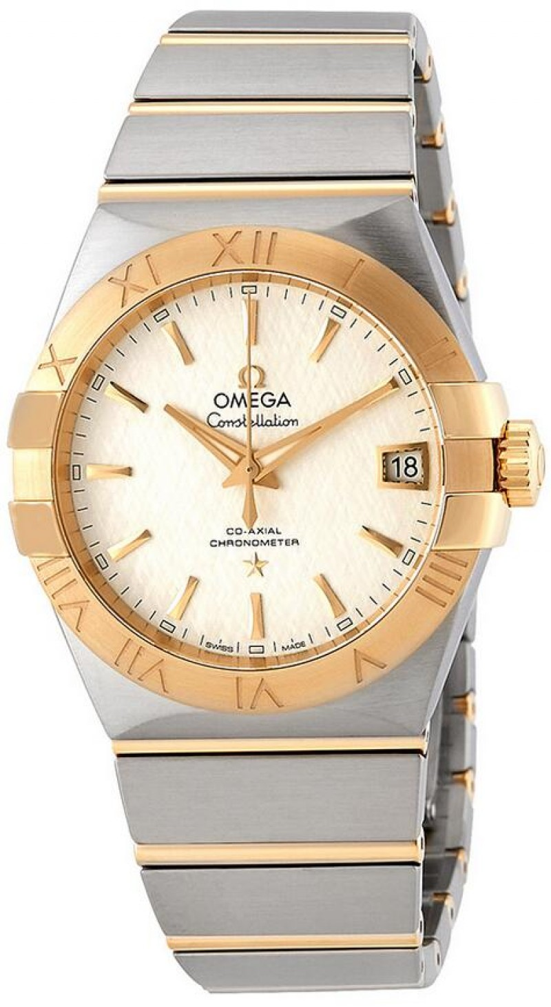 Fake Omega Constellation Automatic White Mens Watch 123.20.38.21.02.006
