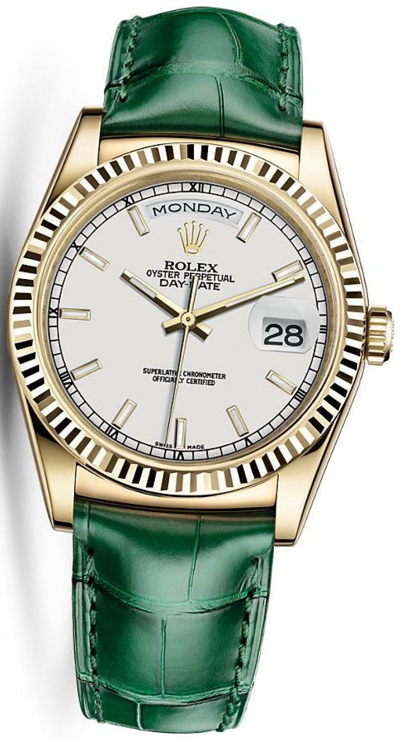 Fake Rolex Day-Date 36 Yellow Gold 118138-0123