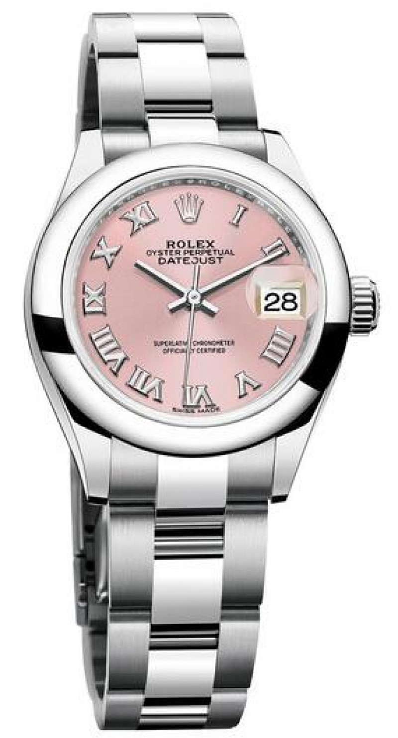 Fake Rolex Oyster Perpetual Lady-Datejust 28 Pink Dial Watch 279160