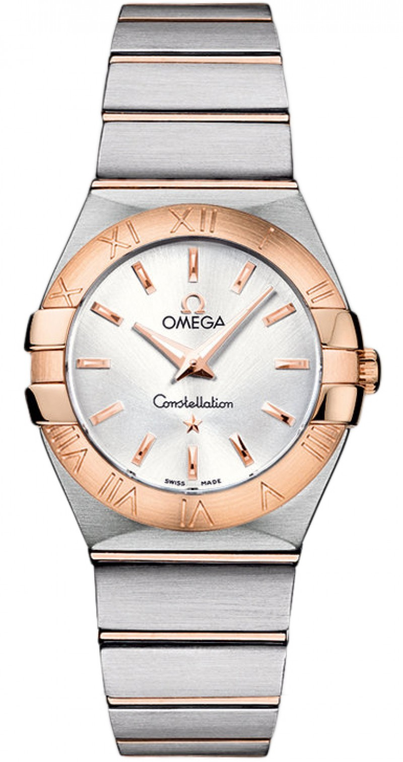 Fake Omega Constellation Brushed Quartz 27mm Ladies Watch 123.20.27.60.02.001
