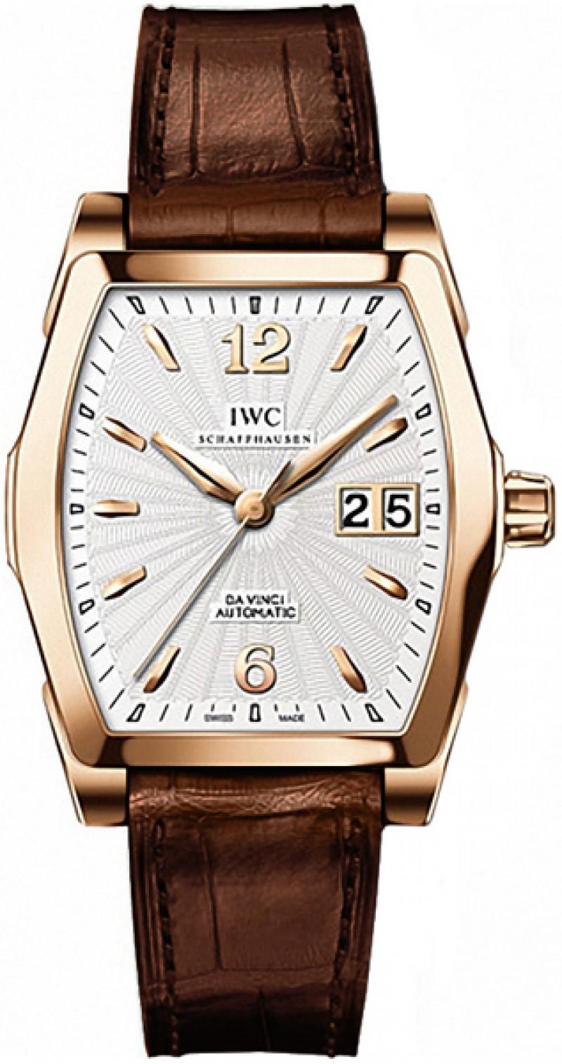 Fake IWC Da Vinci Silver Dial 18kt Rose Gold Mens Watch IW452311
