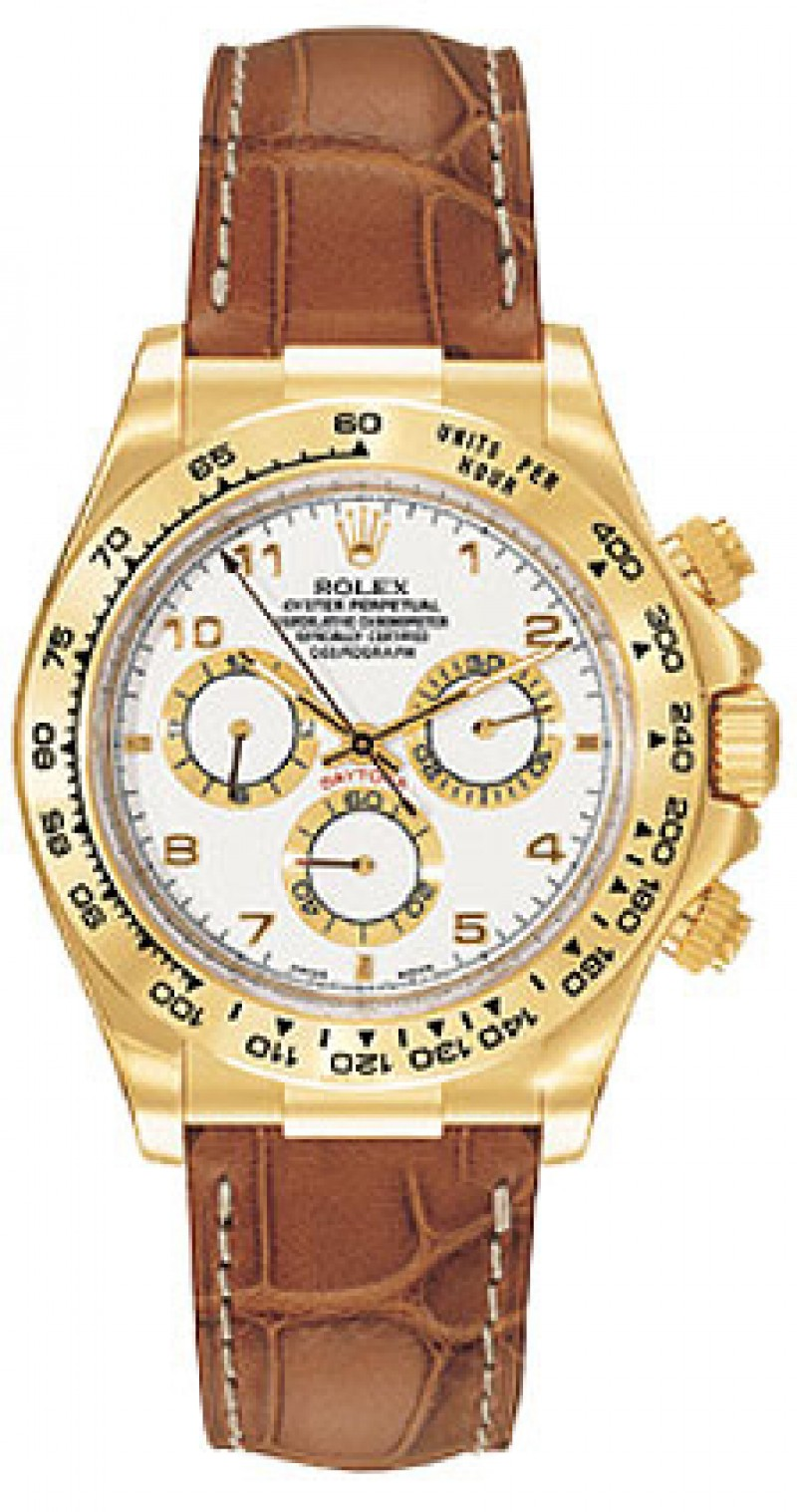 Fake Rolex Daytona White Arabic Dial Mens Watch 116518WAL