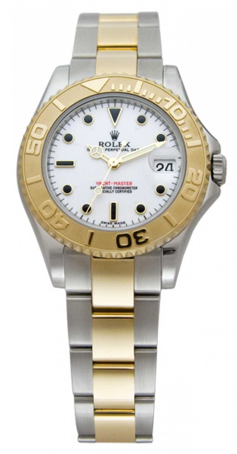 Fake Rolex Yachtmaster White Dial Mens Watch 168623WSO