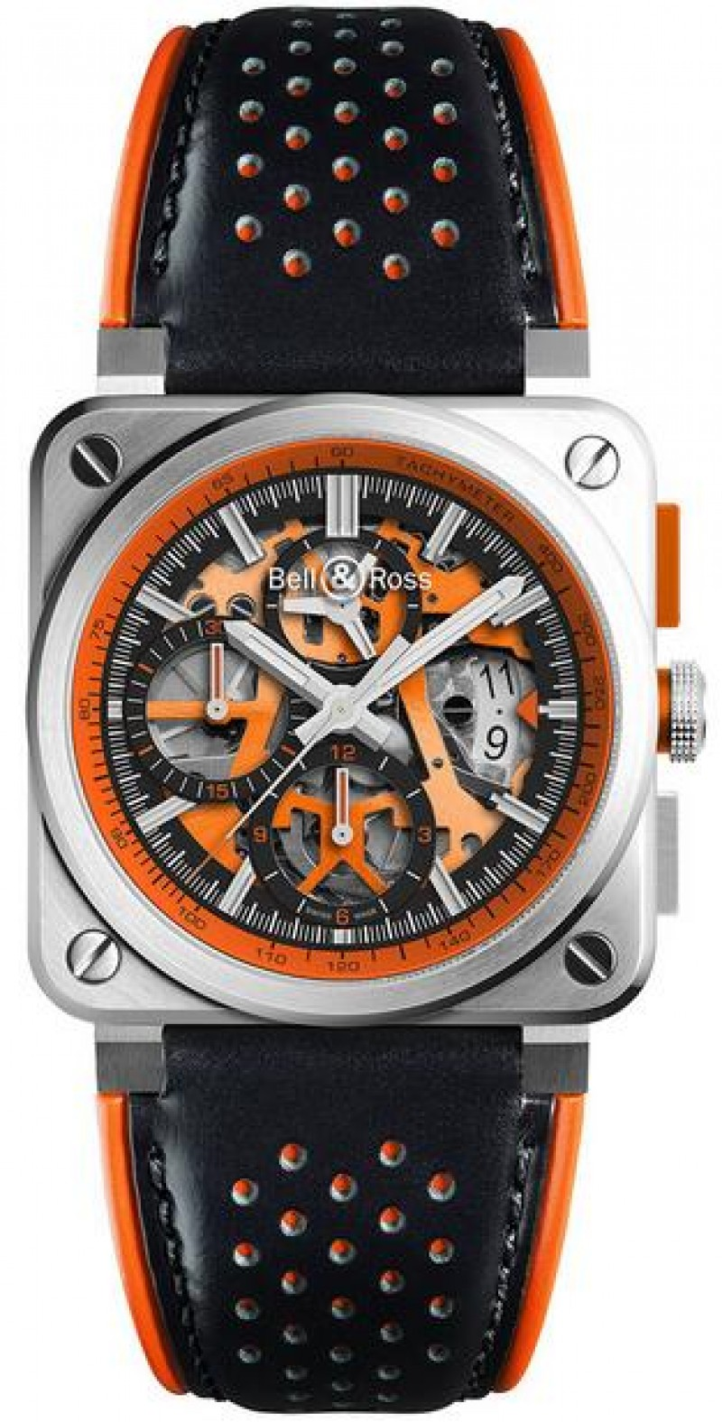 Replica Bell & Ross Aviation Mens Watch BR 03-94 Aero GT Orange